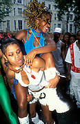 Ragga girls dancing, Notting Hill Carnival 1997