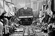 Maeklong Train Market Bangkok, Thailand.