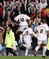 Photo: Paul Thomas.<br /> MK Dons v Swindon Town. Coca Cola League 1.<br /> 01/10/2005.<br /> <br /> Izale McLeod celebrates his goal for MK Dons.
