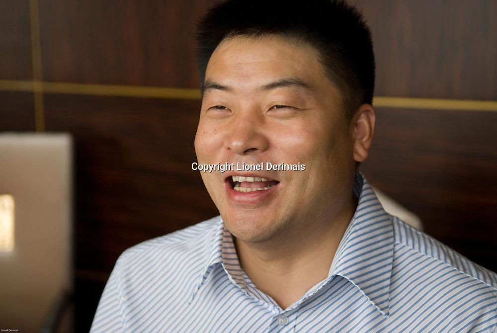 Johnson Ying, CEO of Yingdak leather factory.