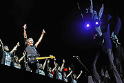 "Roger Waters performs his epic rock show ""The Wall"" live at the Los Angeles Coliseum"