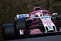 April 28, 2018 - Baku, Azerbaijan - PEREZ Sergio (mex), Force India F1 VJM11, action during the 2018 Formula One World Championship, Grand Prix of Europe in Azerbaijan from April 26 to 29 in Baku  (Credit Image: © Hoch Zwei via ZUMA Wire)