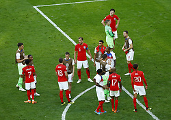 July 14, 2018 - Saint Petersburg, Russia - England v Belgium - Play off for third place final FIFA World Cup Russia 2018.England dejection after the match at Saint Petersburg Stadium in Russia on July 13, 2018. (Credit Image: © Matteo Ciambelli/NurPhoto via ZUMA Press)