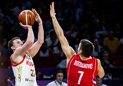 Dmitrii Kulagin of Russia vs Bogdan Bogdanovic of Serbia during basketball match between National Teams of Russia and Serbia at Day 16 in Semifinal of the FIBA EuroBasket 2017 at Sinan Erdem Dome in Istanbul, Turkey on September 15, 2017. Photo by Vid Ponikvar / Sportida