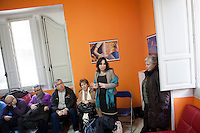 1 March 2012- Palermo, Italy: Rita Borsellino in an assembly of school professionals in Palermo. Rita Borsellino, 66, is the mayor candidate in the centre-left primary campaing for the local elections of the city of Palermo, Sicily. ### 1 marzo 2012 - Palermo, Italia. Rita Borsellino in un'assemblea del personal ATA a Palermo. Rita Borsellino, 66 anni, è il candidato sindaco alle primare del centrosinistra per le elezioni amministrative della città di Palermo, Sicilia.