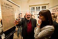 Roma  24 Aprile 2012.Il presidente della Regione Lazio, Renata Polverini con  il direttore del Museo Storico della Liberazione Antonio Parisella, ha inaugurato la mostra 'Impressioni di guerra' al Museo Storico della Liberazione di via Tasso