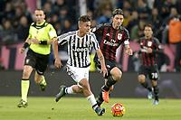 Paulo Dybala Juventus, Riccardo Montolivo Milan,<br /> Torino 21-11-2015, Juventus Stadium, Football Calcio 2015/2016 Serie A, Juventus - Milan, Foto Filippo Alfero/Insidefoto