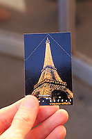 The entry ticket to the Eiffel Tower in Paris, France.