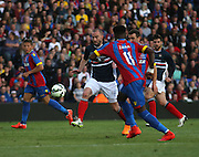 James McPake stops Wilfred Zaha - Crystal Palace v Dundee - Julian Speroni testimonial match at Selhurst Park<br /> <br />  - &copy; David Young - www.davidyoungphoto.co.uk - email: davidyoungphoto@gmail.com