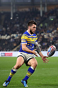 Leeds Rhinos winger Tom Briscoe (2) during the Betfred Super League match between Hull FC and Leeds Rhinos at Kingston Communications Stadium, Hull, United Kingdom on 19 April 2018. Picture by Mick Atkins.