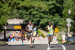 Boston Athletic Association 10K road race: past halfway race led by Geoffrey Mutai, Stephen Sambu