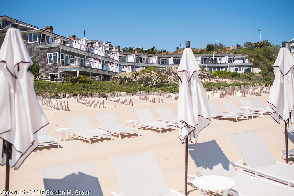 Montauk, NY - 5/23/16 - A view of the Salt Sea building, part of The Residences at Gurney's, at the Panoramic View, which was recently purchased by the owners of the adjacent property, Gurney's Montauk Resort &amp; Seawater Spa, in Montauk, NY May 23, 2016. CREDIT: Gordon M. Grant for The Wall Street Journal<br /> <br /> NYSPACES_Montauk