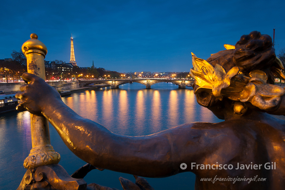 Alexander III bridge, Paris, Ile-de-france, France