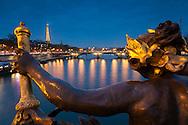 Alexander III bridge, Paris, Ile-de-france, France