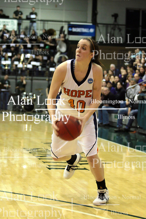 20 March 2010: Meredith Kussmaul. The Flying Dutch of Hope College fall to the Bears of Washington University 65-59 in the Championship Game of the Division 3 Women's NCAA Basketball Championship the at the Shirk Center at Illinois Wesleyan in Bloomington Illinois.