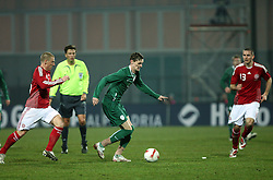 Milivoje Novakovic (11) of Slovenia during the UEFA Friendly match between national teams of Slovenia and Denmark at the Stadium on February 6, 2008 in Nova Gorica, Slovenia. Slovenia lost 2:1. (Photo by Vid Ponikvar / Sportal Images).