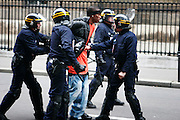March 23rd 2006. Esplanade des Invalides, Paris, France..Violent clashes erupted during a student protest against the First Job Contract, known as CPE. The country's main student union condemned the violence, which police blamed on fringe groups of radicals and anarchists.