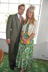 BEN & MARINA FOGLE at the 3rd day of the 2012 Glorious Goodwood racing festival at Goodwood Racecourse, West Sussex on 2nd August 2012.