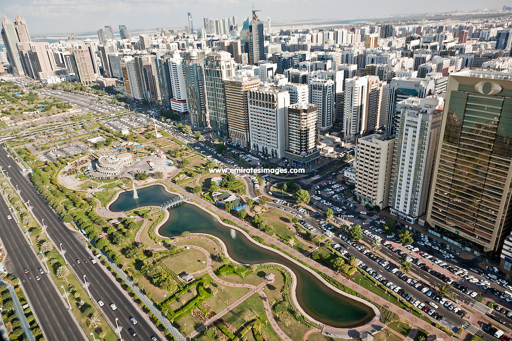 Abu Dhabi aerial shots of the city