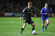 Forest Green Rovers Kyle Taylor(28),on loan from Bournemouth on the ball during the EFL Sky Bet League 2 match between Carlisle United and Forest Green Rovers at Brunton Park, Carlisle, England on 17 September 2019.