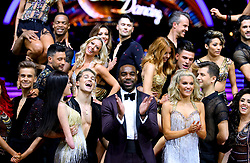 Presenter Ore Oduba (front centre) poses with the celebrities and professional dancers taking part in the Strictly Tour during a photocall before the opening night of the Strictly Come Dancing Tour 2019 at the Arena Birmingham, in Birmingham. Picture date: Thursday January 17, 2019. Photo credit should read: Aaron Chown/PA Wire