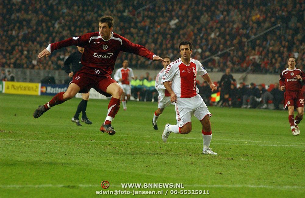 NLD/Amsterdam/20051122 - Voetbal, Champions League, Ajax - Sparta Praag, Yannis Anastasiou