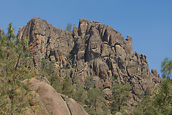 High peaks rock formations left by ancient volcanic activity, Pinnacles National Monument, California, USA