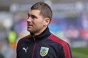 Burnley forward Sam Vokes (9)  during the Sky Bet Championship match between Huddersfield Town and Burnley at the John Smiths Stadium, Huddersfield, England on 12 March 2016. Photo by Simon Davies.