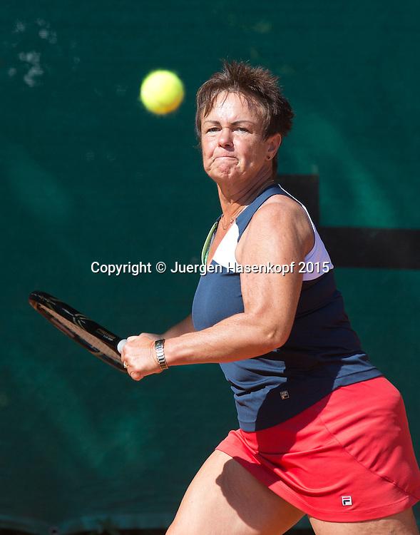 Munich Senior Open 2015 WS50, Singles ,Beate Blank,<br /> <br /> Tennis - Munich Senior Open - ITF Senioren Turnier -  Tennis Kooperation Muenchen-Johanniskirchen - Muenchen - Bayern - Germany  - 31 July 2015. <br /> &copy; Juergen Hasenkopf