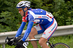 Uros Murn (SLO) of Adria Mobil near Kamnik at 3rd stage of Tour de Slovenie 2009 from Lenart to Krvavec, 175 km, on June 20 2009, Slovenia. (Photo by Vid Ponikvar / Sportida)