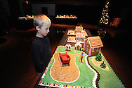 Charlie Samuels looks over the Gingerbread Village at the Ford Center, in Oxford, Miss., on Monday, December 16, 2013. Story time for younger kids will be on Wednesday at 10:30 a.m. and on Thursday at 3:30 p.m. for older kids. The Gingerbread Village supports local food banks. Visitors are encouraged to bring non-perishable food items to donate.