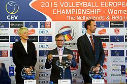 12-11-2014 BEL: Loting EK volleybal 2015 vrouwen, Antwerpen<br /> In het Antwerpse stadhuis werd door de Nederlandse-, Belgische volleybalbond en de CEV de loting voor het EK vrouwen verricht / Toernooi directeuren Peter Blange en Virginie de Carne