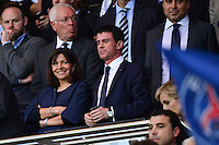 Anne HIDALGO / Manuel VALLS - 15.04.2015 - Paris Saint Germain / Barcelone - 1/4Finale Aller Champions League<br />