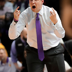 Jan 19, 2019; Baton Rouge, LA, USA; LSU Tigers head coach Will Wade during the first half against the South Carolina Gamecocks at the Maravich Assembly Center. Mandatory Credit: Derick E. Hingle-USA TODAY Sports