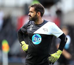 Derby County's Scott Carson - Mandatory by-line: Robbie Stephenson/JMP - 07966386802 - 29/07/2015 - SPORT - FOOTBALL - Derby,England - iPro Stadium - Derby County v Villarreal CF - Pre-Season Friendly