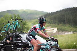 Francesca Cauz (ITA) of Giusfredi Bianchi Cycling Team climbs during Stage 3 of the Emakumeen Bira - a 77.6 km road race, starting and finishing in Antzuola on May 19, 2017, in Basque Country, Spain. (Photo by Balint Hamvas/Velofocus)