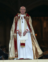 The Rt Revd David Conner, Dean of Windsor before the wedding of Princess Eugenie to Jack Brooksbank at St George's Chapel in Windsor Castle.