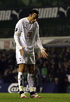 Photo: Paul Thomas.<br /> Tottenham Hotspur v Sevilla. UEFA Cup. Quarter Final, 2nd Leg. 12/04/2007.<br /> <br /> Dejected Spur Dimitar Berbatov after he misses goal in the  second half.