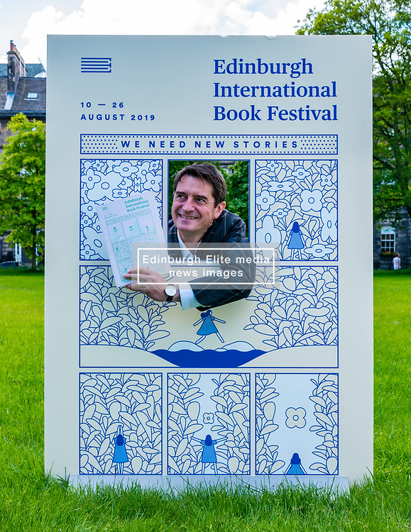 Pictured: International Book Festival Launch. Charlotte Square Gardens, Edinburgh, Scotland, United Kingdom, 06 June 2019. Nick Barley, Director of Edinburgh International Book Festival launches the 2019 Book Festival programme.<br /> <br /> Sally Anderson   EdinburghElitemedia.co.uk