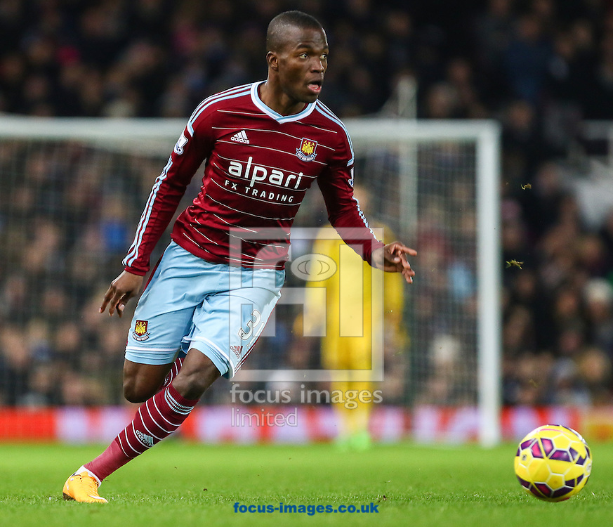 Enner Valencia of West Ham United during the Barclays Premier League match at the Boleyn Ground, London<br /> Picture by David Horn/Focus Images Ltd +44 7545 970036<br /> 01/01/2015