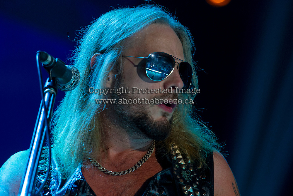 KELOWNA, BC - JUNE 16:  Judas Priest performs live on stage at Prospera Place on June 16, 2019 in Kelowna, Canada. (Photo by Marissa Baecker/Shoot the Breeze)