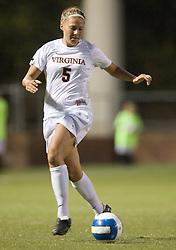 Virginia Cavaliers M/F Shannon Foley (5)..The Virginia Cavaliers women's soccer team faced the Florida State Seminoles at the Klockner Stadium in Charlottesville, VA on October 4, 2007.
