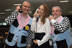 © Licensed to London News Pictures. 11/09/2018. London, UK.  Mel C at the 14th Annual BGC Charity Day held on the trading floor of BGC Partners in Canary Wharf, to raise money for charitable causes in commemoration of BGC's 658 colleagues and the 61 Eurobrokers employees lost on 9/11.  Photo credit: Vickie Flores/LNP