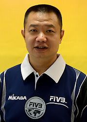 08-08-2014 NED: FIVB Grand Prix Nederland - Puerto Rico, Doetinchem<br /> Official FIVB referee Chen, Xing Biao (CHN)