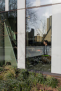 New architecture and a male customer inside a restaurant, on 2nd March 2017, in the London borough of Southwark, England.