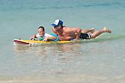 """Bondi Rescue Guards train children in sea rescue in Dubai on Saturday, Oct30, 2010. Lifeguard featured: Bruce """"Hoppo"""" Hopkins"""