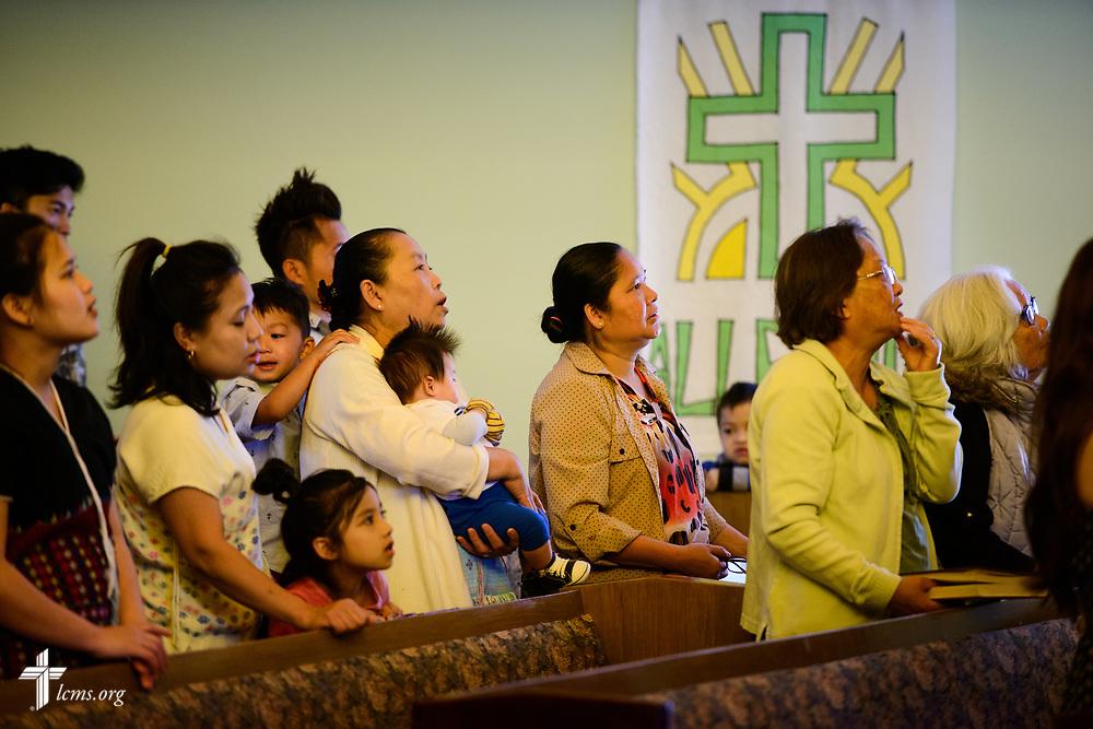 Burmese church members and visitors worship at New Vision Lutheran Church, Spokane, Wash., on Sunday, June 18, 2017, in Spokane. LCMS Communications/Erik M. Lunsford
