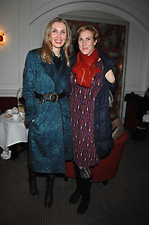 Left to right, ALLEGRA HICKS and her sister FREDERICA TONDATO at a tea party to celebrate the launch of Buccellati's new London store held at 33 Albemarle Street, London on 13th February 2007.<br /><br />NON EXCLUSIVE - WORLD RIGHTS