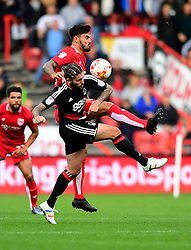 Marlon Pack of Bristol City battles for the ball with  Henri Lansbury of Nottingham Forest  - Mandatory by-line: Joe Meredith/JMP - 01/10/2016 - FOOTBALL - Ashton Gate Stadium - Bristol, England - Bristol City v Nottingham Forest - Sky Bet Championship