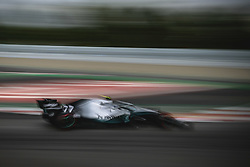 May 11, 2019 - Barcelona, Catalonia, Spain - VALTTERI BOTTAS (FIN) from team Mercedes drives in his W10 during the third practice session of the Spanish GP at Circuit de Catalunya (Credit Image: © Matthias Oesterle/ZUMA Wire)